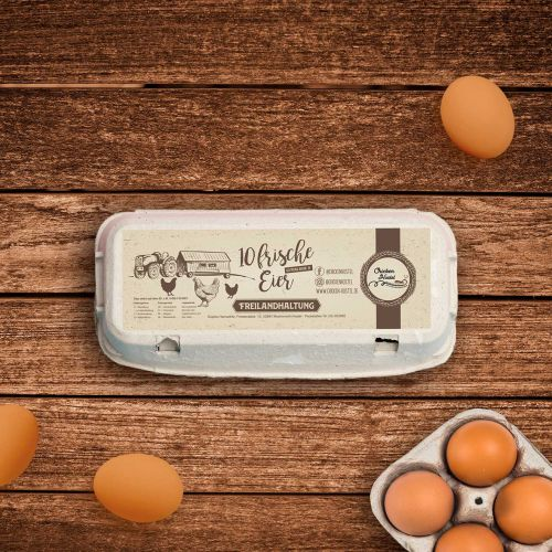 Chicken Hostel Egg Label
